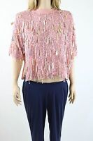 ASOS Women's Pink Trophy T-Shirt Top With Full Embellished Top UK SIZE 8 36 £75