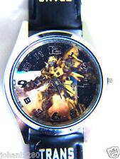 Uurwerk Transformers, zwarte armband met print Ø 35,5 mm L = 23,5 cm
