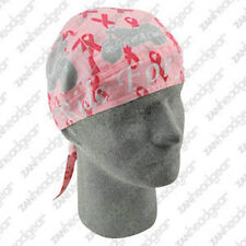 Breast Cancer Awareness Ride for Cure Motorcyle Ribbon Doo Rag Headwrap Biker