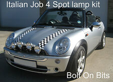 4 Italiana Job Inox Faretti Supplementari Kit BMW Mini 2001 To 2006 Cabrio 2004
