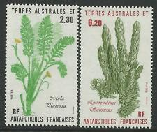TAAF FRENCH ANTARCTIC 1986 PLANTS 2v  MNH