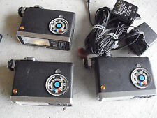 Lot of 3 Vintage Vivitar 281 Electronic Flashes LOOK