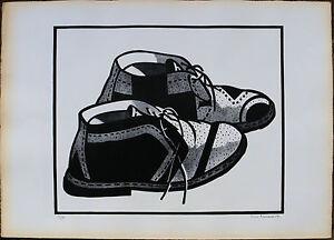 Nino Aimone litografia del 1967 Le Scarpe 50x70 firmata numerata 72/100