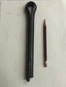 """3/4"""" x 4"""" Cotter Pins Locking Split Pins Big Steel Plain USA 3/4x4 (2 pieces)"""