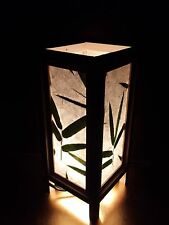 Asian Oriental Design Bamboo Leaves Bedside Floor Or Table Lamp Saa Paper
