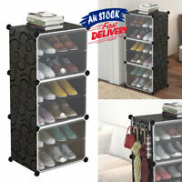 6 Tier Cube Stand Stackable Storage Shoe Cabinet Rack Portable Organiser ACB#