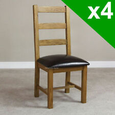 Unbranded Oak Chairs with 4 Pieces
