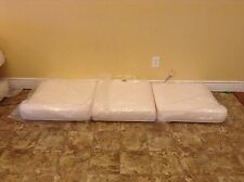 Frontgate PACIFICA SOFA Outdoor Patio Replacement Lounge Cushions White 72x24