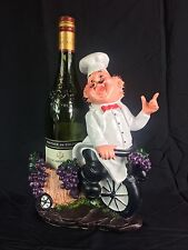 Resin Wine Bottle Holder Chef Design For Shop/Restaurant/Home/Gift #93420