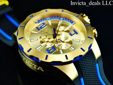 NEW Invicta Men's 52mm S1 Rally TURBO Chronograph Gold Dial Gold Tone SS Watch