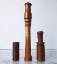 Lot of 3 wooden GOOSE/ DUCK CALLS Ron Wieneke GANDER LAND'R woods XLNT no reserv