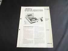 Original Service Manual  Kuba TC 1004
