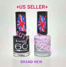 Rimmel 60 SECONDS Nail Polish 820 & 410 Full Size 8ml / 0.27 oz Ea. Brand NEW