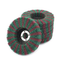 "2/5/10Pcs 4"" Nylon Fiber Flap Polishing Grinding Wheel Disc for Angle Grinder"
