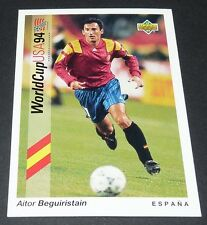 BEGUIRISTAIN BARCELONA ESPAÑA FOOTBALL CARD UPPER DECK USA 94 PANINI 1994 WM94