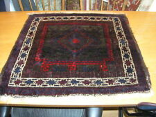 Great Vintage Baluchi Bag Face 32x30 inches Purple Red Blue Brown off White