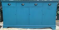 Teal/Bright Blue Upcycled Solid Wood SideBoard Upcycled Shabby Chic
