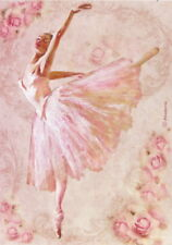 Rice Paper for Decoupage, Scrapbook Sheet, Stamperia Dancer
