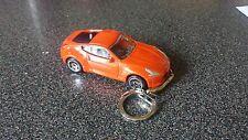 Diecast Nissan 370Z Orange Toy Car Keyring Keychain