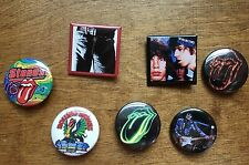Rolling Stones 7 Pin Lot Licks Concert Tour Badge