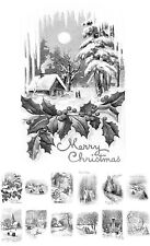 """Adult Grayscale Coloring Book (24 cards 4.5""""x6.5"""") Christmas Winter FLONZ508"""