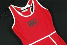 World Gym Singlet Body Building Lifting Workout One Piece Red Womens Medium