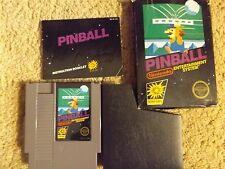 1985 Pinball NES Nintendo Entertainment System Game in Box with Manual CIB