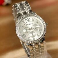 Großartige Armbanduhr • Genf Quarz Schick für Damen Schön Ziffernblatt