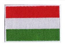 Ecusson patche patch brodé drapeau HONGRIE 70 x 45 mm brodé à coudre