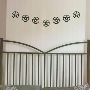 Pentagram Garland, Halloween Bunting, Gothic Home Decor, Halloween Decorations