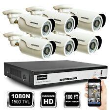 8CH 1080N HDMI DVR 1500TVL IR-CUT Outdoor CCTV Video Home Security Camera System