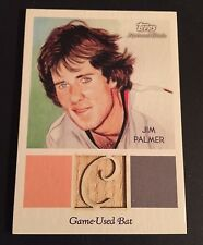 JIM PALMER 2010 Topps National Chicle GAME USED BAT Card Ser #d /99 ORIOLES