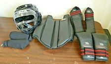 Lot Child Large/Youth Karate/Martial Arts Ata Protective Head Gear, Vest, Gloves