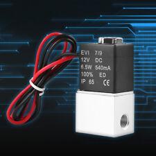 """Electrovanne Electrique 12V 2Voie Normalement Fermé 1/8"""" Pneumatique Aluminium"""