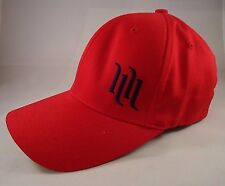 Red Flexfit Ballcap Racing Signed size S-M Yupoong V-Town VG Cond. Clean