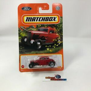 1932 Ford Coupe #8 * RED * 2021 Matchbox Case Y * R4
