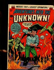 ADVENTURES INTO THE UNKOWN #43 (6.0) MONSTER COVER!