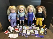 Amazing Ally Doll Large Lot 4 Dolls With Accessories, Animatronic Dolls, Vintage