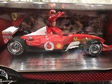 Mattel Hot Wheels Schumacher 2001 Word Champion Ferrari 1/18 Box / Boxed MIB