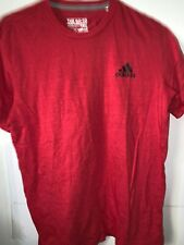 Men's Adidas The Go To Tee Performance Red Short Sleeve Athletic Shirt Size M