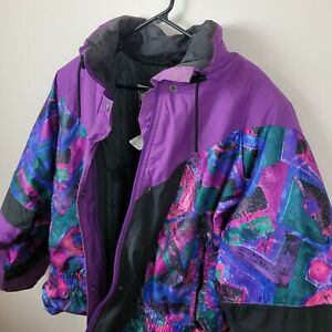 Vintage Ski-doo Veste Muskoka Bombardier Snowmobile Jacket Coat Women XL 80s/90s