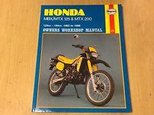 HONDA MBX125 MTX125 MTX200 F RW HAYNES OWNERS WORKSHOP MANUAL 1983-1989