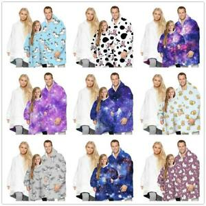 Winter Soft Pullover Oversized Hoodie Blanket Oodie Plush Warm Big Fleece Family