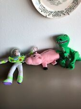 Toy Story hand puppets Burger King pals 1995 lot of 3 , Buzz Rex Hamm  plush