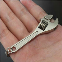 Metal Adjustable Creative Tool Mini Cute Wrench Spanner Key Chain Ring Keyring