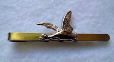 HUNTERS THEME TIE BAR SILVER TONE FLYING DUCK-MADE IN CZECH