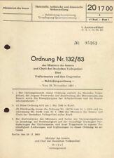 Ordnung Nr. 132/83 des Minister des Innern Uniformarten und Trageweise  DDR
