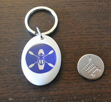 Sanctuaries Edge Canoe Kayak Canoeing Paddle Oar Keyring Locker Trolley Coin