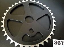 "36T ALUMINUM BMX SPROCKET FOR SINGLE/1PC CRANK 1/2""x1/8""x36T CNC MACHINED *BLACK"