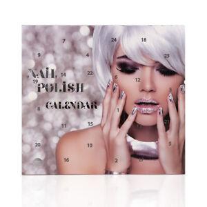 Nagellack Adventskalender für Frauen & Mädchen Beauty  Kosmetik Nagelpflege